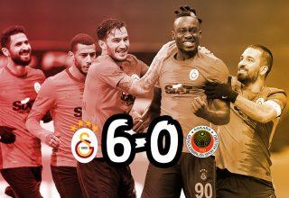 Galatasaray Gençlerbirliği'ne gol oldu yağdı!